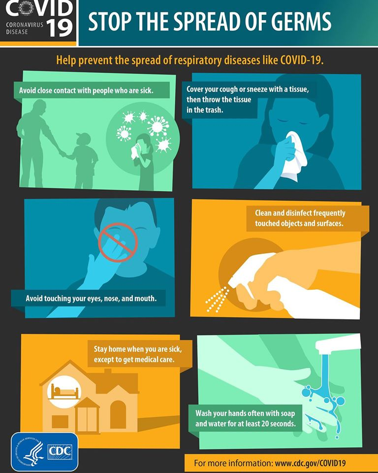 CDC graphic - stop the spread of germs